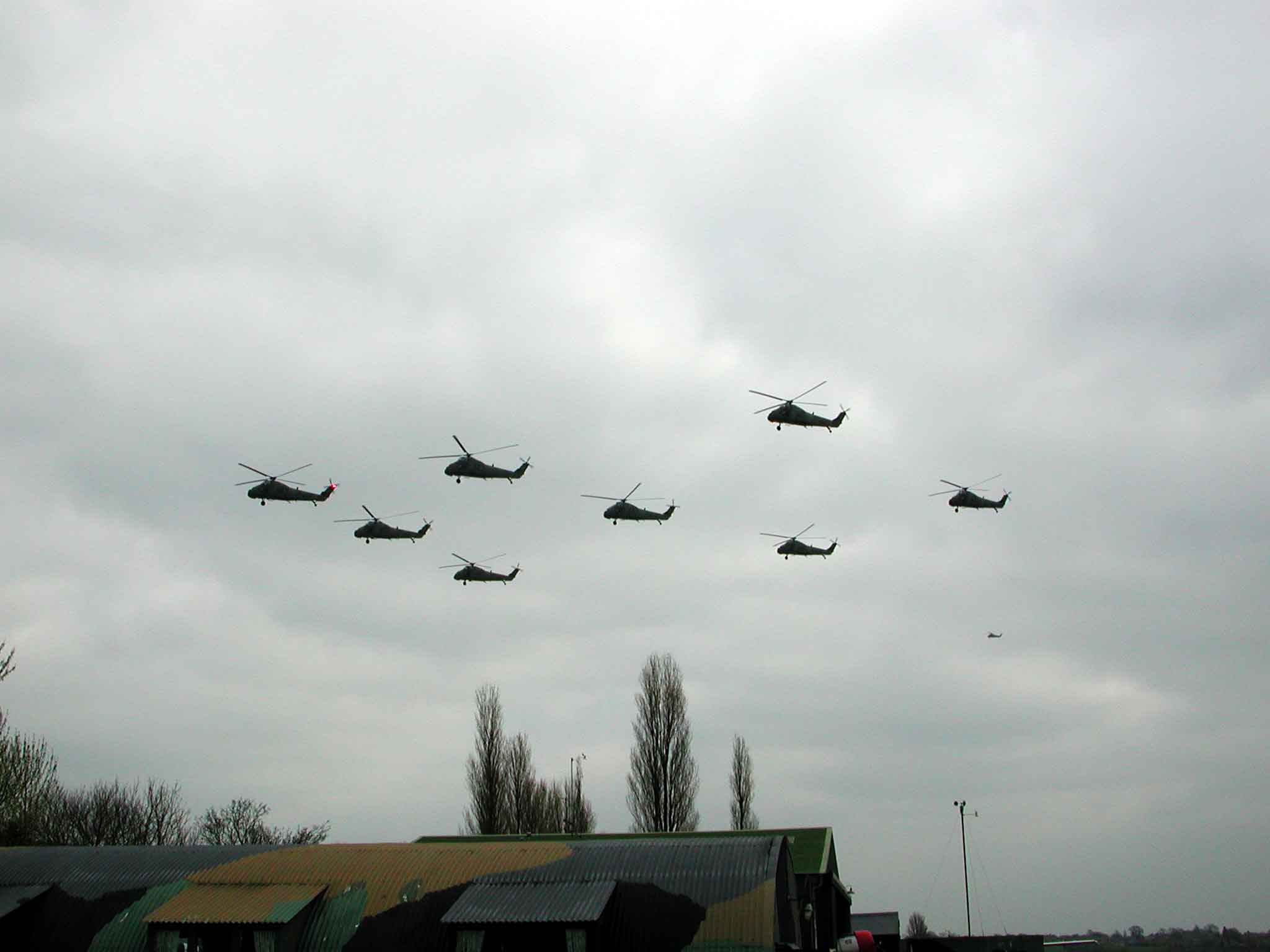 72 Squadron over North Weald airfield