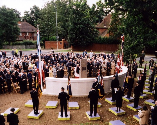 Dedication of the memorial at North Weald